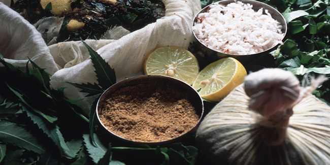 Ingredients used for a rice bag wash - a traditional